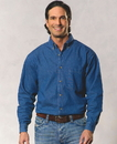 Sierra Pacific SP3211 Mens Long Sleeve Cotton Denim Shirt