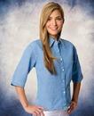Sierra Pacific SP5203 Ladies' Half Sleeve Cotton Denim