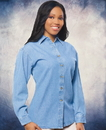 Sierra Pacific SP5211 Ladies' Long Sleeve Denim Shirt