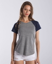 US Blanks US0618 Ladies' Tri-Blend Shirttail Raglan Tee