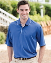 Whispering Pines WP0362 24/7 Adult Striped Collar and Placket Performance Sport Shirt