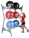 Power Systems Elite Stability Ball Rack - 12 Ball Rack w/Casters, 92476