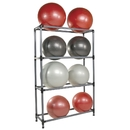 Power Systems 92492 Stability Ball Storage Rack - 8 Ball Rack w/Casters - Black/Gray
