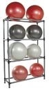 Power Systems 92502 Stability Ball Storage Rack - 12 Ball Rack - Black/Gray