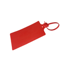 Muka 100PCS Plastic Parcel Seal, Writable Tag Label with Tight Fastener, 58x100mm Tag 255mm Length Strap