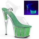"""Pleaser ADORE-708UVG Platforms (Exotic Dancing) : 7"""" - 7 1/2"""" Heel, 7"""