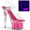 """Pleaser ADORE-708FLM Platforms (Exotic Dancing) : 7"""" - 7 1/2"""" Heel, 7"""