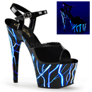 """Pleaser ADORE-709NLB Platforms (Exotic Dancing) : 7"""" - 7 1/2"""" Heel, 7"""