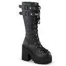 Demonia ASSAULT-202 Women's Mid-Calf & Knee High Boots, 4 3/4