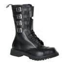 Demonia ATTACK-10 Unisex Combat Boots : Leather, 1 1/2