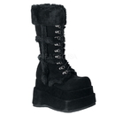 Demonia BEAR-202 Women's Mid-Calf & Knee High Boots, 4 1/2