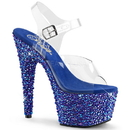 Pleaser BEJEWELED-708MS Platforms (Exotic Dancing) : Specialty Collection, 7