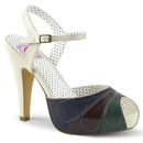 Pin Up Couture BETTIE-27 Hidden Platform Peep Toe Ankle Strap Sandal 4 1/2