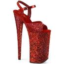 Pleaser BEYOND-010LG Glitter Platform Ankle Strap Sandal. Warning: Extreme High Heel. Not Recommended for Walking or Dancing 10