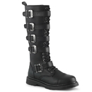Demonia BOLT-425 Heel 20 Eyelet Unisex Knee High Combat Boot 1 1/4