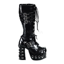 Demonia CHARADE-206 Women's Mid-Calf & Knee High Boots, 4 1/2