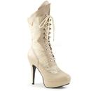 Pleaser Pink Label CHLOE-115 Platform : Ankle/Mid-Calf Boots, 5 1/4