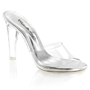 """Fabulicious CLEARLY-401 Shoes : 4 1/2"""" Clearly, 4 1/2"""