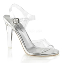 """Fabulicious CLEARLY-408 Shoes : 4 1/2"""" Clearly, 4 1/2"""