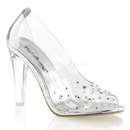 """Fabulicious CLEARLY-420 Shoes : 4 1/2"""" Clearly, 4 1/2"""
