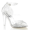 """Fabulicious CLEARLY-430RS Shoes : 4 1/2"""" Clearly, 4 1/2"""