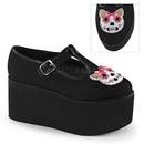 Demonia CLICK-04-1 Women's Heels & Platform Shoes, 3 1/4