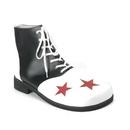 Funtasma CLOWN-02 - Adult Blk-Wht Pu W/Red Stars Clown Shoe