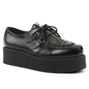 Demonia CREEPER-440 Unisex Creepers : Leather, 2