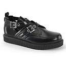 Demonia CREEPER-615 Unisex Creepers : Leather, 1
