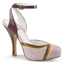 Pin Up Couture CUTIEPIE-01 Hidden Platform Closed Toe Ankle Strap Sandal 4 1/2