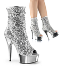 Pleaser DELIGHT-1008SQ Platforms (Exotic Dancing) : Ankle/Mid-Calf Boots, 6