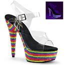 """Pleaser DELIGHT-608RBS Platforms (Exotic Dancing) : 6"""" - 6 1/2"""" Heel, 6"""