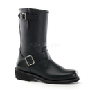 Demonia ENGINEER BOOT - Engineer Boot, Rockabilly Punk Blk Leather Calf Boot