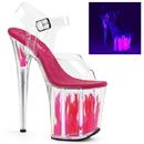 """Pleaser FLAMINGO-808FLM Platforms (Exotic Dancing) : 8"""" Heel"""