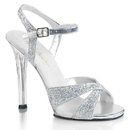 Fabulicious GALA-19 Heel Criss Cross Ankle Strap Sandal Multicolor Glitter 4 1/2