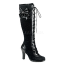 Demonia GLAM-240 Women's Mid-Calf & Knee High Boots, 3 3/4