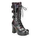 Demonia GOTHIKA-101 Women's Mid-Calf & Knee High Boots, 3 3/4