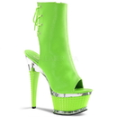 Pleaser ILLUSION-1018UV Platforms (Exotic Dancing) : Ankle/Mid-Calf Boots, 6 1/2