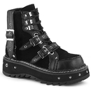 Demonia LILITH-278 Metal Studded Platform Lace-Up Ankle Boot 1 1/4