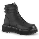 Demonia LILITH-152 Platform Lace-Up Front Ankle Boot w/ Double Buckled Ankle Straps, Inside Zip Closure 1 1/4