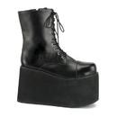 Funtasma MONSTER-10 - Monster, Frankenstein Blk Pu Lace Up Front Pf Ankle Boot, 5