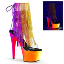 Pleaser RAINBOW-1017RSF-7 Platforms (Exotic Dancing) : Ankle/Mid-Calf Boots, 7