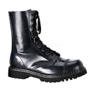 Demonia ROCKY-10 Unisex Combat Boots : Leather, 1 1/4