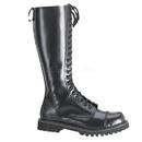 Demonia ROCKY-20 Unisex Combat Boots : Leather, 1 1/4