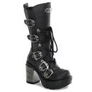 Demonia SINISTER-203 Women's Mid-Calf & Knee High Boots, 3 1/2