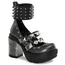 Demonia SINISTER-62 Women's Heels & Platform Shoes, 3 1/2