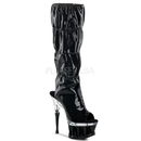 Pleaser SPIKY-2001 Platforms (Exotic Dancing) : Knee High Boots, 6 1/2