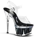 """Pleaser SPIKY-608MG Platforms (Exotic Dancing) : 6"""" - 6 1/2"""" Heel, 6 1/2"""