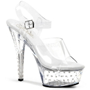 Pleaser STARDUST-608 Platforms (Exotic Dancing) : Specialty Collection, 6