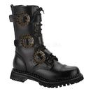 Demonia STEAM-12 Unisex Combat Boots, 1 1/2